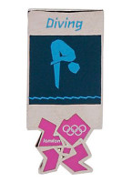 London 2012 Olympics Pictogram Diving Pin