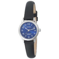 Carriage Womens Silvertone Blue Strap Watch (C2A871)