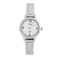 Carriage Womens Silvertone Expansion Band Watch