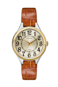 Carriage Womens Two Tone Brown Strap Watch