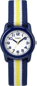 Timex Kids Analog Blue Yellow Elastic Watch
