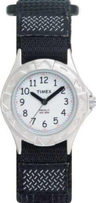 Timex Kids' My First Timex Stainless Steel Watch with Black Canvas Band