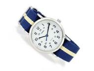 Timex Men's Weekender T2P142 Blue Nylon Analog Quartz Watch