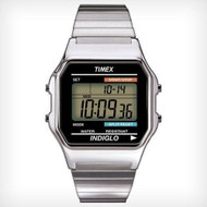 Timex Mens Classic Digital Silvertone Watch
