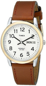 Timex Mens Easy Reader Brown Leather Strap Watch T20011