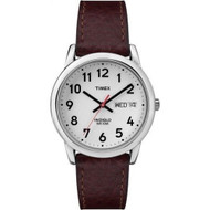 Timex Mens Easy Reader Brown Leather Strap Watch T20041