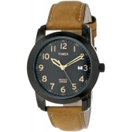 Timex Mens Elevated Classics Brown Leather Strap Watch (T2P133)