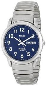 Timex Mens Silvertone Easy Reader Watch