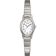 Timex Womens Cavatina SilverTone Expansion Watch