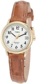 Timex Womens Easy Reader Brown Strap Watch