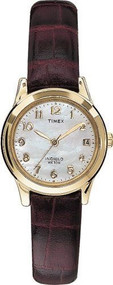 Timex Womens Elevated Classics Burgundy Dress Watch (T21693)