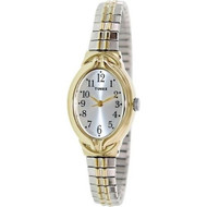 Timex Womens Elevated Classics Two Tone Expansion Watch T2N980