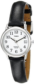 Timex Womens Silvertone Black Dial Watch T2H331