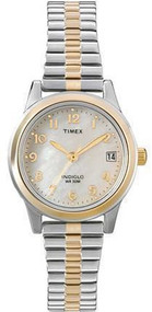 Timex Womens Two Tone Expansion Band Watch T2M828