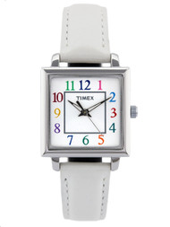 Timex Womens White Strap Elevated Classics Watch (T2P377)