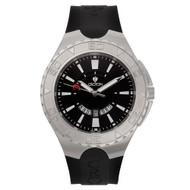 Croton Mens Stainless Steel Black Super C Watch