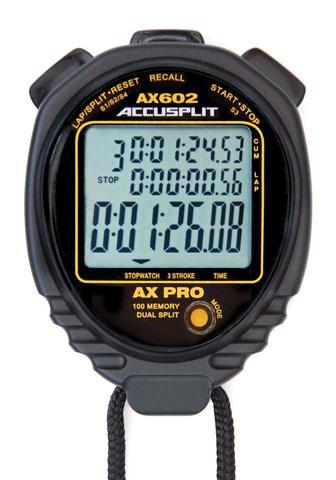 ACCUSPLIT AX602 Stopwatch 100 Memory