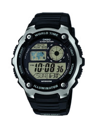 Casio Men's Multifunction Watch AE2100W-1AVCF Black Silver