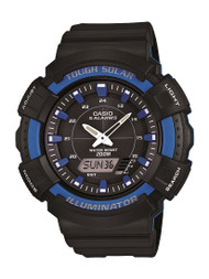 Casio Men's Solar Watch ADS800WH-2A2 Black Blue