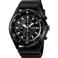 Casio Men's Dive Style Chrono Watch AMW330B-1A Black Resin Silver Bezel