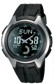 Casio Men's Ana-Digi Stainless Sport Watch AQ160W-1BV Black Band