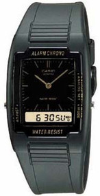 Casio Men's Classic Analog Digital Watch AQ47-1E Black