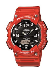 Casio Men's Solar Ana-Digi Sports Watch AQS810WC-4AVCF Quartz Red