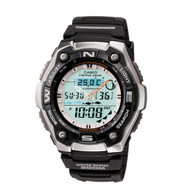 Casio Men's Active Dial Multi-Task Gear Sport Watch AQW101-1ACF Black Silver