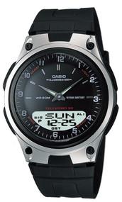 Casio Men's Databank Analog Digital Display Quartz Watch AW80-1A2V Black