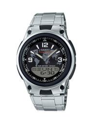 Casio Men's Ana-Digi Bracelet Watch AW80D-1A2V Silver Black 10-Year Battery
