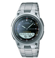 Casio Men's Sports Chrono Alarm Databank Watch AW80D-1AV Silver Black