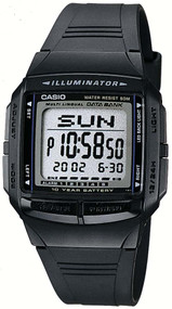 Casio Men's Multilingual Databank Watch DB36-1AV Black