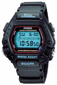 Casio Men's Multi Function Digital Watch DW290-1V Black 200M