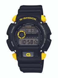 Casio Men's DW-9052-1C9CR G-Shock Black Watch with Yellow Pushers