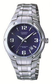 Casio Men's Stainless Steel Dress Watch EF106D-2AV Blue Dial