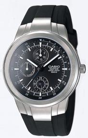 Casio Men's Edifice Multifunction Watch EF305-1AV Black Resin Band