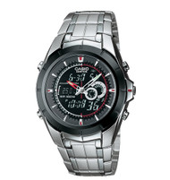 Casio Men's Ana-Digi Edifice Stainless Steel Watch EFA119BK-1AV