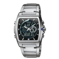 Casio Men's Ana-Digi Edifice Thermometer Bracelet Watch EFA120D-1AV Stainles