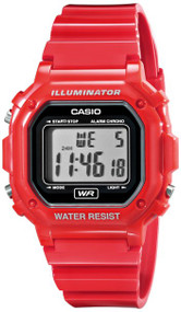 Casio Unisex Digital Watch F108WHC-4ACF Glossy Red