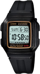 Casio Men's Multi-Function Alarm Sports Watch F201WA-9A Grey