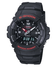 Casio Men's G-Shock Classic Ana-Digi Watch G100-1BV Black