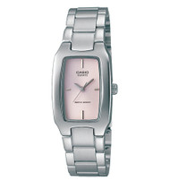 Casio Women's Classic Stainless Steel Bracelet Watch LTP1165A-4C Pink Dial