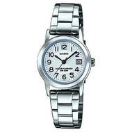 Casio Women's Easy-To-Read Solar Stainless Steel Watch LTPS100D-7BVCF