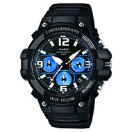 Casio Men's Heavy Duty-Design Chronograph Watch MCW100H-1A2VCF Black Blue