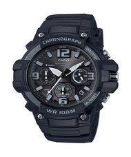Casio Men's Heavy Duty Design Watch MCW100H-1A3V Black Silicone Band