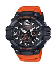 Casio Men's Heavy Duty Design Watch MCW100H-4AV Orange Silicone Band