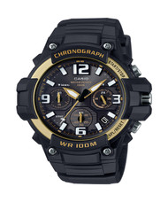 Men's Casio Sport Chronograph Watch MCW100H-9A2V Black Gold