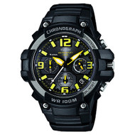 Casio Men's Heavy Duty-Design Chronograph Watch MCW100H-9AVCF Black Yellow
