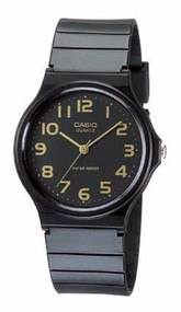 Casio Men's Watch MQ24-1B2 with Black Resin Band
