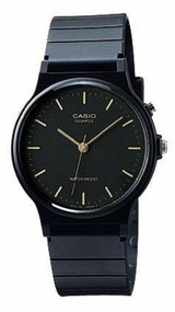 Casio Men's Watch MQ24-1E Black Resin Black Dial